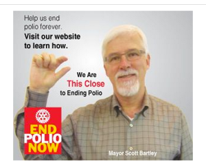 Mayor Scott Bartley wants to end polio...