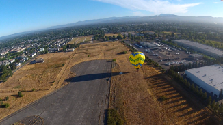 Hot Air Balloon in Santa Rosa from above